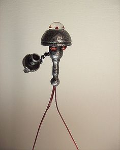 For Sams groom cake table Martian Alien Tripod Robot with Red Blood Dome by buildersstudio, $29.99