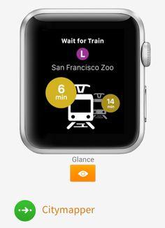 Citymapper Apple Watch UI