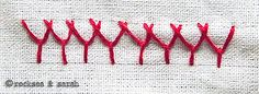 plaited fly stitch » Sarah's Hand Embroidery Tutorials