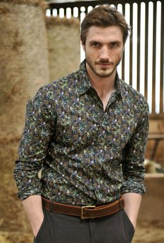 Black dress shirt mens liberty