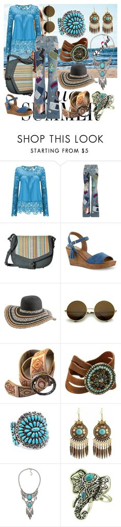"""""""Flower child"""" by eugbehm ❤ liked on Polyvore featuring Roberto Cavalli, American West, Bella-Vita, Rip Curl, Leatherock, Child Of Wild and WithChic"""