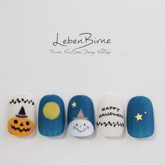 ハローHALLOWEEN*ジェル Halloween Nail Colors, Holloween Nails, Cute Halloween Nails, Luv Nails, Fancy Nails, Pretty Nail Art, Cute Nail Art, Manicure Nail Designs, Nail Art Designs