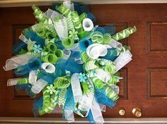FUN SPRING WREATHS by BEAUTIFULMESHWREATHS on Etsy, $50.00
