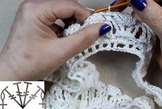 Como Hacer una Hermosa Blusa de Mujer Tejida a Crochet ⋆ Manualidades Y DIYManualidades Y DIY Crochet Earrings, Diy, Fashion, Hat Crochet, How To Make, Sweetie Belle, Ganchillo, Dots, Tejidos