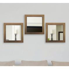 Rayne Mirrors 22 in. x 22 in. Black Wide Square Leather Wall Mirrors (Set of Classic Wall Mirrors, White Wall Mirrors, Rustic Wall Mirrors, Contemporary Wall Mirrors, Round Wall Mirror, Mirror Set, Mirror Ideas, Modern Wall, Mirror Inspiration