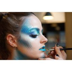 Halloween Makeup Idea Pretty Fish makeup ❤ liked on Polyvore featuring beauty products and makeup