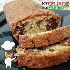 Budín marmolado para celíacos Gluten Free Vegetarian Recipes, Gluten Free Sweets, Gluten Free Baking, Vegan Gluten Free, Baking Recipes, Dessert Recipes, Desserts, Bolo Fit, Bunt Cakes