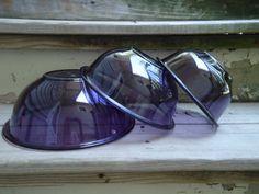 Vintage Amethyst Purple Pyrex Stacking Bowls