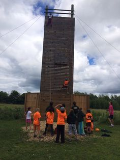 Rock climbing! #YLCC #funinfrench #friendship #fun