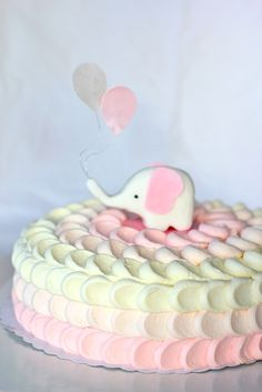 Ombre Petal Cake/bellebaie.blogspot.com... I know this is for a baby shower but this is so cute!