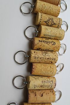 Keychain Party Favors Wine Cork Favors Wedding by TheWoodenBee. That's a quick, easy favor. I'd have other things to supplement it, though.