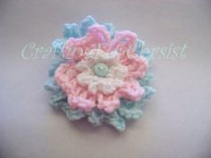 B's 3 Tiered Cute as a Button Flower pattern by Crafting ForChrist Designs  - FREE CROCHET PATTERN