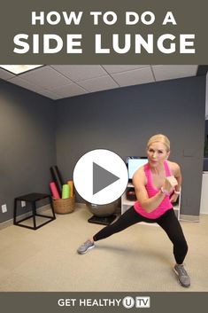 While traditional lunges are great, it can be fun to mix it up with other variations like side lunges, which help you target the glutes more directly. Learn how to perform them in this step-by-step workout video. Kettlebell Challenge, Kettlebell Training, Workout Challenge, Step Workout, Gym Workout Videos, Workout Tips, Fat Workout, Workout Plans, Killer Workouts