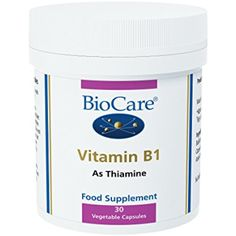 Biocare Vitamin B1 30 capsule -- Visit the image link more details. (This is an affiliate link) #VitaminsDietarySupplements