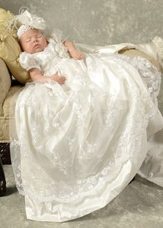 Preslee Silk Christening Gown LovE the Christening Dress $425