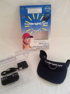 Portable SAD Light Therapy Adjustable Light Intensity LUX Visor See Description