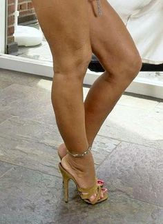 Mules, anklet, and great legs