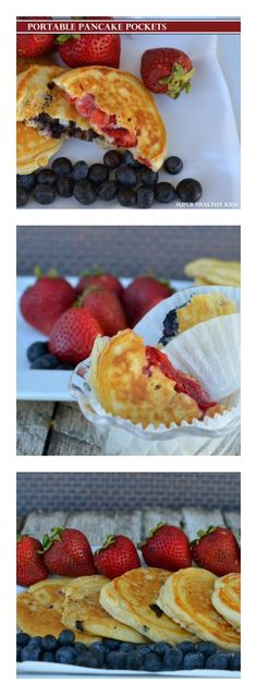 We love taking these on the road, or making them ahead for busy mornings. Portable pancake pockets for kids from Super Healthy Kids