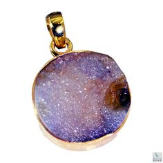 #druzy #drusy Gold Plated #Fashion #pendant #Artificial #RiyoGems #Jewelry #Jewellery #gems #gemstone