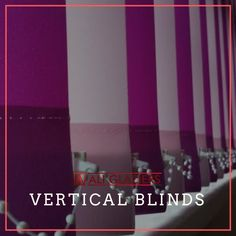 Purple Coloured fabric vertical blinds for homes and offices to enhance home decor and interiors Offices, Blinds, Homes, Interiors, Purple, Fabric, Color, Home Decor, Tejido
