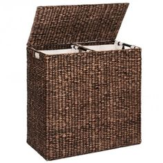 Free Shipping. Buy Best Choice Products Water Hyacinth Double Laundry Hamper Basket W/ 2 Liner Basket Bags Brushed Espresso at Walmart.com