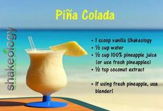Shakeology a la Pina colada! http://www.shakeology.com/krinwilkie Would it be wrong to add rum?? ;-p