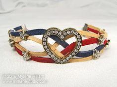 Mill Lane Studio: Stars and Stripes Sof-Suede Bracelet