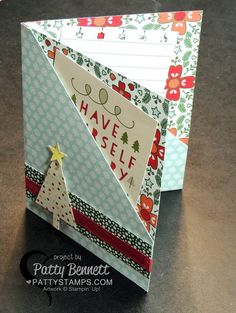 Stampin' Up! Quick and Easy Double Pocket card featuring Nordic Noel designer paper by Patty Bennett Stampin' Up! Quick and Easy Double Pocket card featuring Nordic Noel designer paper by Patty Bennett Fancy Fold Cards, Folded Cards, Holiday Cards, Christmas Cards, Karten Diy, Pocket Cards, Paper Pocket, Winter Cards, Card Tutorials