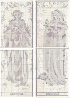 point de croix maiden of the seasons - cross stitch part 4