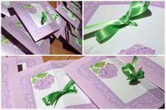 Faire-part mariage hortensia nœud fleur Ribbon bow Wedding invitation L'Atelier d'Elsa www.latelierdelsa.com