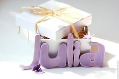"Lilac name ""Julia"" - Plywood - Gift to the birth of a child, for girlfriend on birthday - Romantic eco-friendly present - One of a kind!"