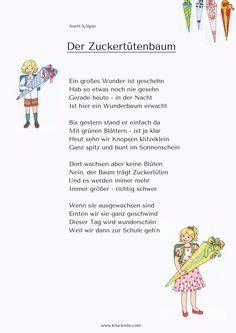Preschool poem - for summer party or school enrollment - www. Preschool Poems, Preschool Kindergarten, First Day Of School, Pre School, School Enrollment, Kindergarten Portfolio, Abc For Kids, School Accessories, Learn German