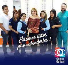 Estamos listos para atenderlos!  En #OceanOptical encontrarás la solución ideal para tus #Ojos #DraKathyDeRugel #OptometríaClínica #OptometríaPedriática #Contactología #BajaVisión #Queratocono #Miopía #PrótesisOculares #TerapiaVisual #SaludOcupacional #BrainGYM #OBO