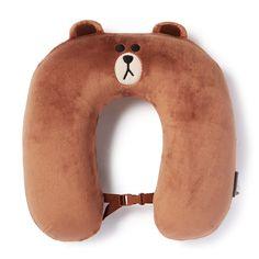 LINE Friends Brown Neck Cushion (36 000 KRW)   LINE Store