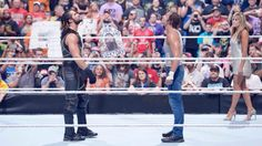 Dean Ambrose VS Seth Rollins at Money In The Bank