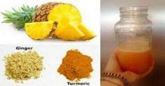 Ο ανανάς, η κουρκούμη, το τζίντζερ και το λεμόνι είναι συστατικά με αποδεδειγμένες αντι-φλεγμονώδεις και αντιογκικές ιδιότητες.Αν τα ανακατέψετε όλα μαζί θ