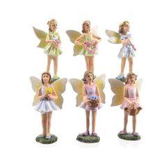 Fairy Garden Miniature Cheerful Garden Fairies – Set of 6 - My Fairy Gardens
