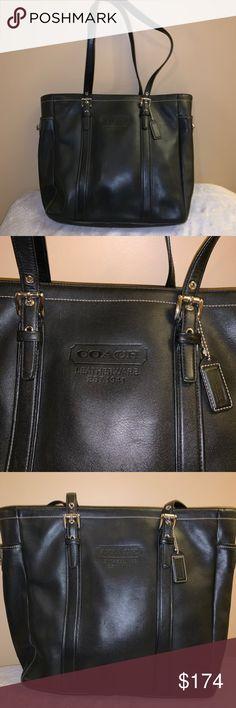 a5261df83e12 Coach Leather Black Tote Coach Leather Shoulder Bag. Authentic coach bag in  excellent condition.