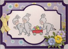 Easter Tot Wagon (Sku#T4026) card.  Art Impressions
