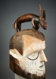 Suku Hemba Helmet Mask, DR Congo http://www.imodara.com/item/dr-congo-suku-hemba-initiation-mask/