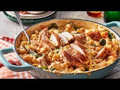 One-pan recipes don't get easier than this creamy chicken pasta recipe. Made with a blend of cheese and parmesan it's the chicken pasta recipe that family will ask for again and again. Creamy Chicken Pasta Bake, Baked Chicken Pasta Recipes, Pasta Dinners, Dried Beans, How To Cook Chicken, Quick Meals, Dinner Recipes, Dinner Ideas, Stuffed Peppers