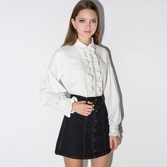 85668ccac US $25.99 |Aliexpress.com : Buy RICHCOCO Spring&summer&autumn Vintage  Women's Retro Shirts White Ruffles Decor Lantern Sleeve Full Sleeved Blouses  E423 from ...