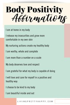 Love Your Body Quotes, Body Image Quotes, Body Positive Quotes, Positive Mantras, Positive Affirmations Quotes, Affirmation Quotes, Positive Living, Positive Mindset, Affirmations For Women