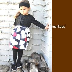 Black and Red Ruffle Dress  Markoos by MarKoosModernDesign on Etsy, $48.00