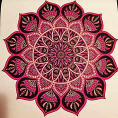 Mandala with stabilo pen 68