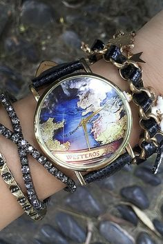 The earth watch httptiwibthe earth watch jewelry posts vintage world map womens watches gumiabroncs Choice Image