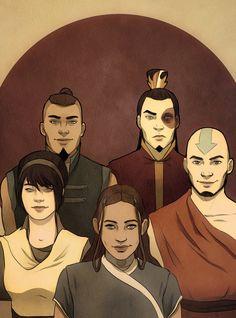 "ATLA - Sokka, Zuko, Toph, Katara, Aang: avatar last airbender [ the ""Gaang"" ]"