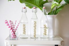DIY Bar Bottle Labels | lovelyindeed.com