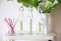 DIY Bar Bottle Labels | lovelyindeed.com