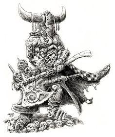 Sessair Champion by vikingmyke on DeviantArt Viking Warrior Tattoos, Sword And Sorcery, Character Portraits, Barbarian, Fantasy Artwork, Black Tattoos, Dark Art, Cool Drawings, Vikings
